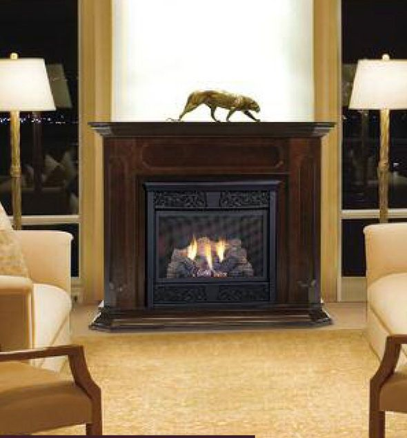 Vent Free Gas Fireplace Insert With Remote Control