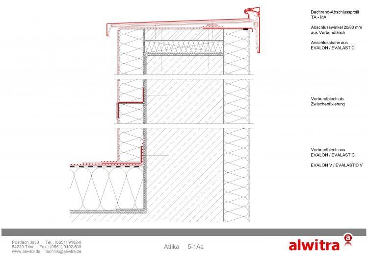 Detail 51Aa Detailzeichnungen, Fassadenschnitt