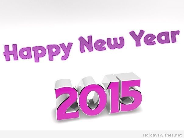 Happy new year purple 2015 saying | Happy New Year | Pinterest ...