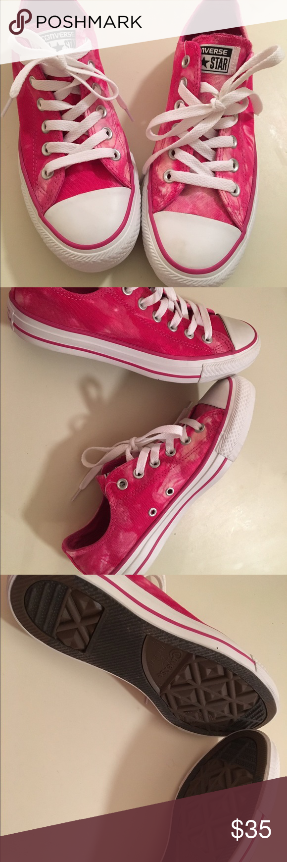 Never worn pink tie dye converse Size 7 woman's...Brand new without box or tags Converse Shoes Sneakers