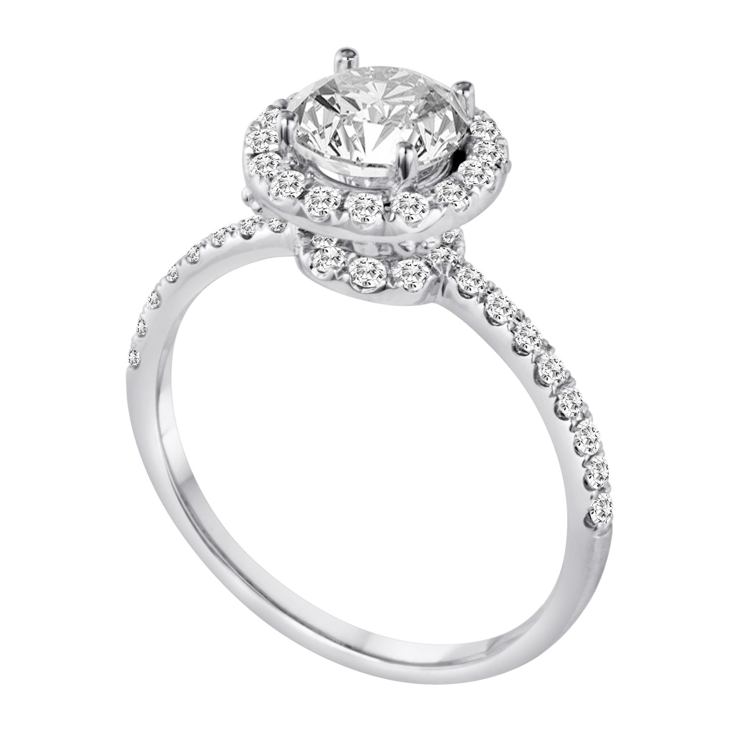 Gorgeous 18k White Gold Halo Diamond Engagement Ring With 39ctw Of Diamonds Center S White Gold Engagement Rings Halo Engagement Rings Dream Engagement Rings