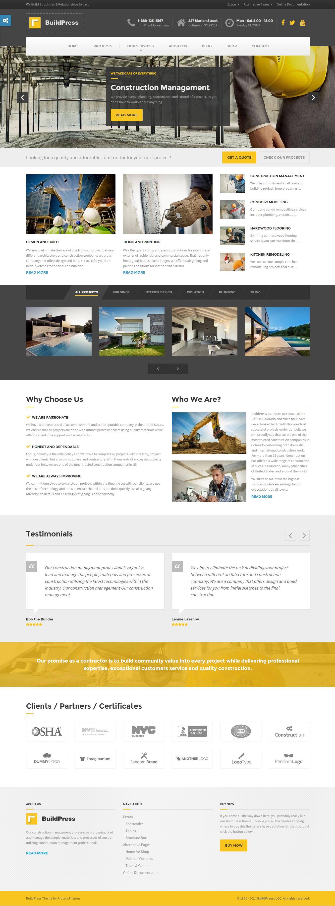 35 Best Construction Wordpress Themes 2020 Corporate Website Design Website Design Inspiration Website Design