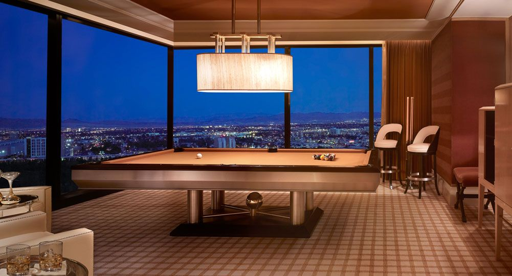 Gorgeous Pool Table In Encore Tower Suites Three Bedroom Duplex