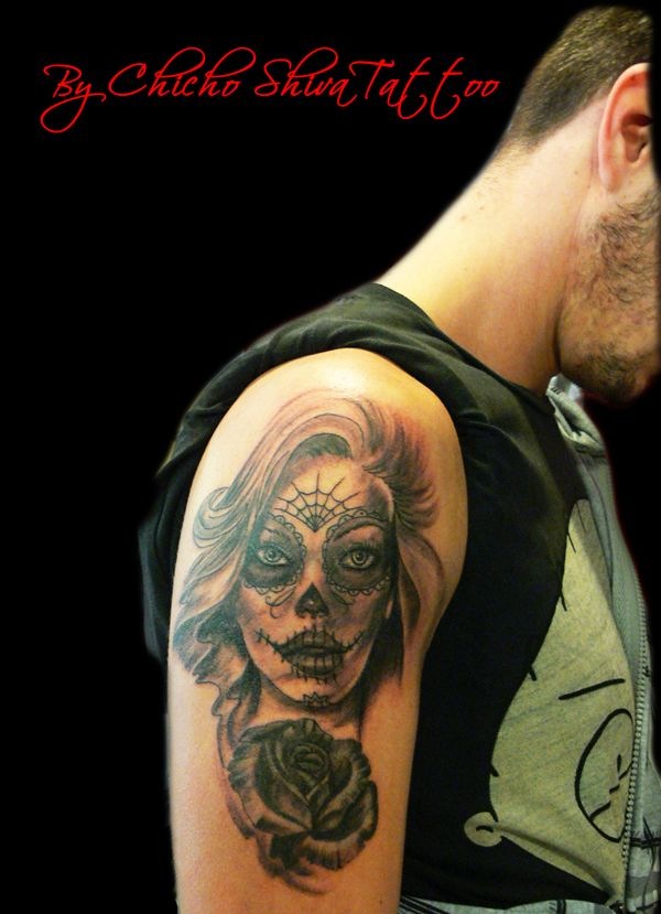 Tattoo Catrina En El Brazo De Chico Tatuaje Tatuajes By Chicho