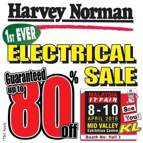 8-10 Apr 2016: Harvey Norman Electrical Sale