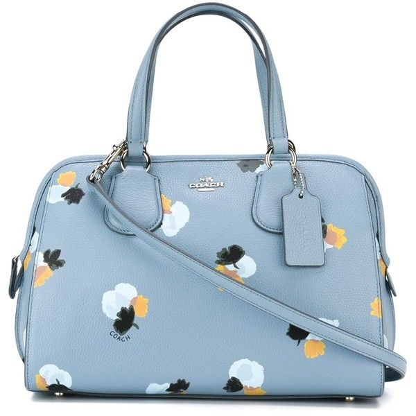 72a3ac2896d2 Coach Floral Print Tote Bag (€360) ❤ liked on Polyvore featuring bags