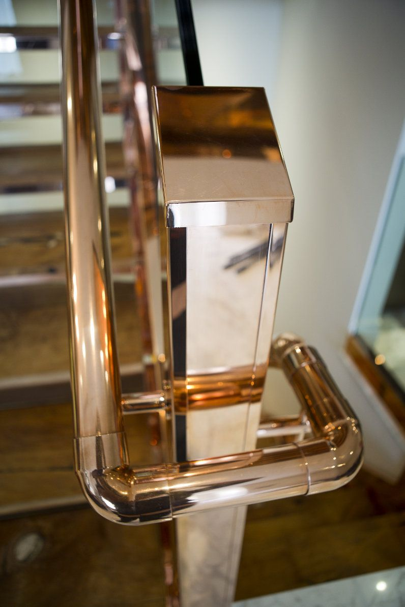 Best Katharine Pooley Copper Staircase Handrail Stairs We Love 640 x 480