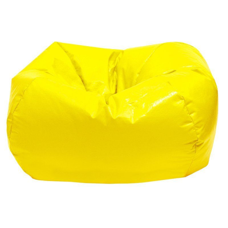 Surprising Gold Medal Vinyl Small Bean Bag Yellow 30008409216 Gmtry Best Dining Table And Chair Ideas Images Gmtryco