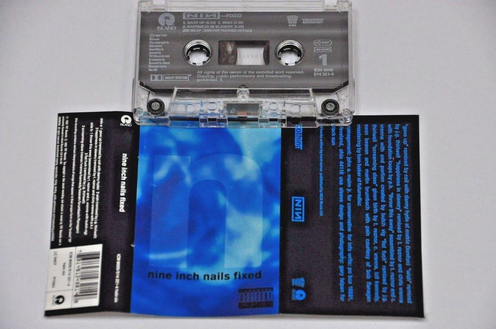 NINE INCH NAILS FIXED 1992 VINTAGE Cassette Audio Tape RARE