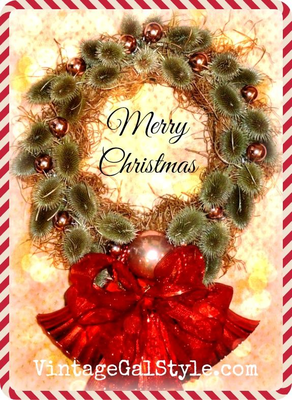 Thistle Christmas Wreath Glam Christmas Red 2 Pinterest