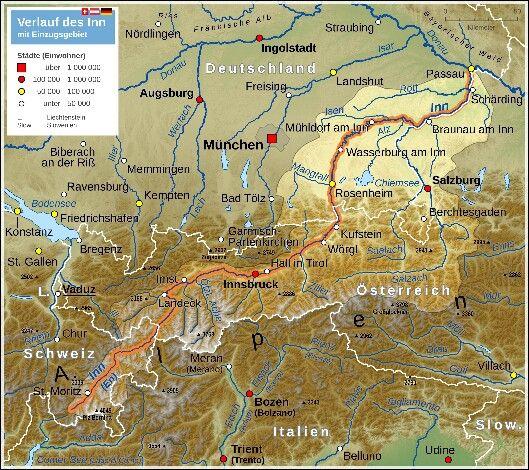 Inn River Map Map Bayern Map Screenshot