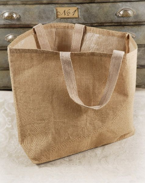 Large Burlap Jute 24x19 Tote Bags With Cotton Handles 7 50 Each Great For Bridesmaid Gifts Or Out Of Town Guest Gift And Lace Wedding