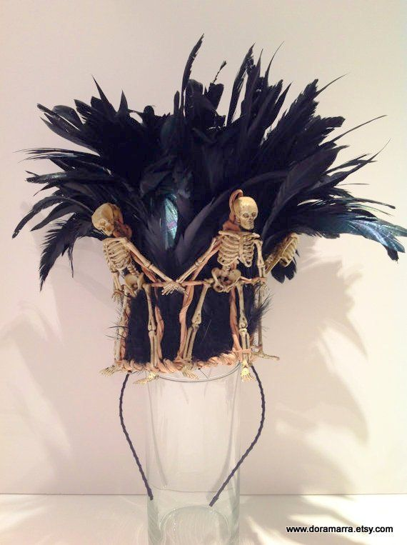 Skeleton Crown Mardi Gras Day of the Dead - Etsy - Halloween hats, Halloween crown, Voodoo halloween - 웹