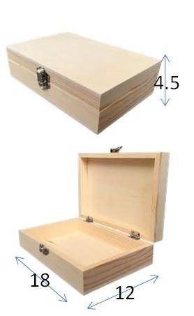 Caja baja 18x12x4,5 cm