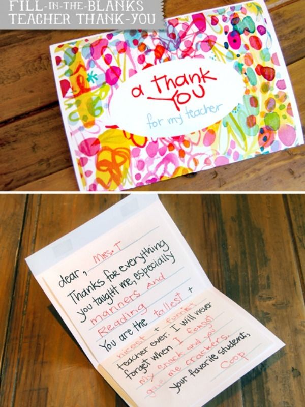 7 Diy Teacher Gift Ideas To Make Gift Cards More Personal