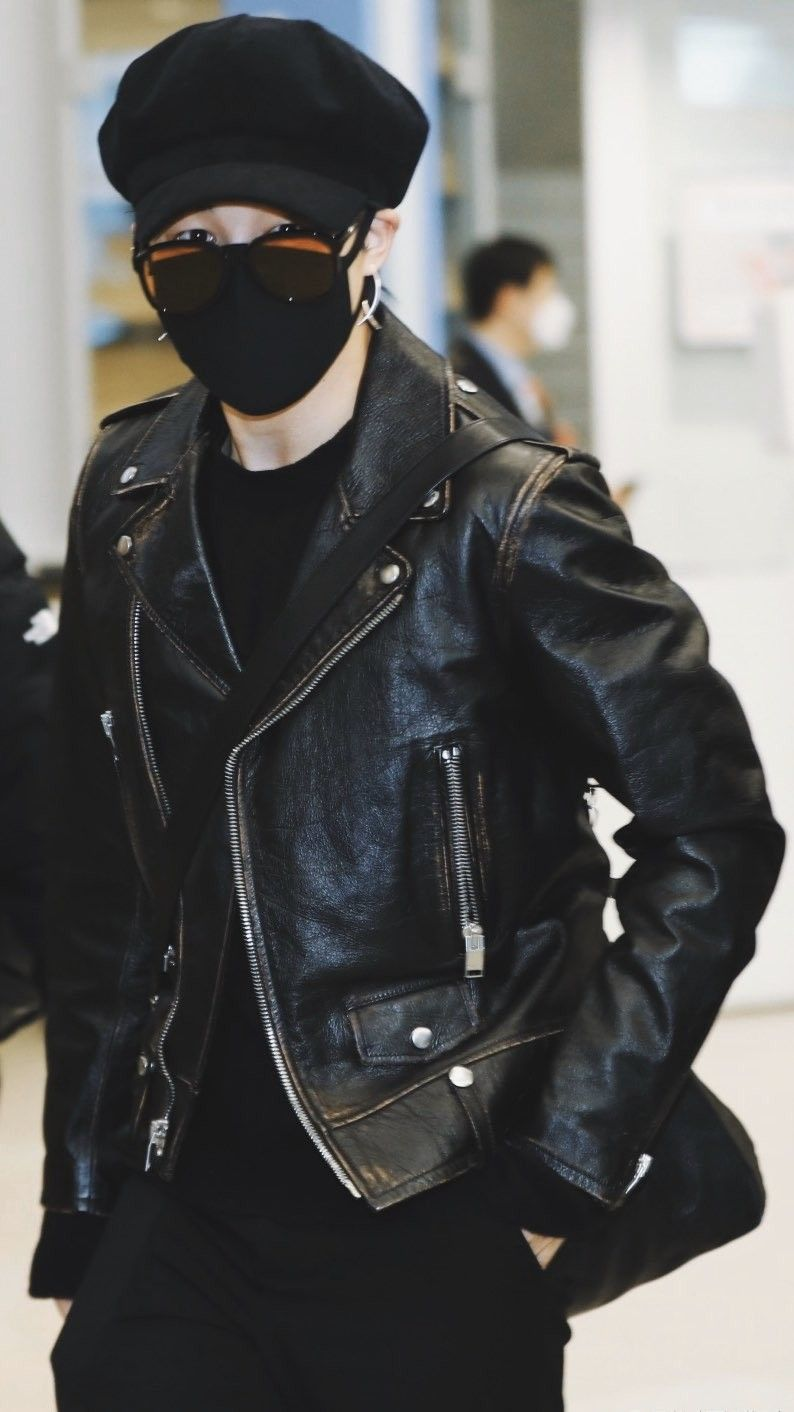 Bts Jimin Airport Fromus021020 Jimin Airport Fashion Park Jimin Leather Jacket [ 1412 x 794 Pixel ]