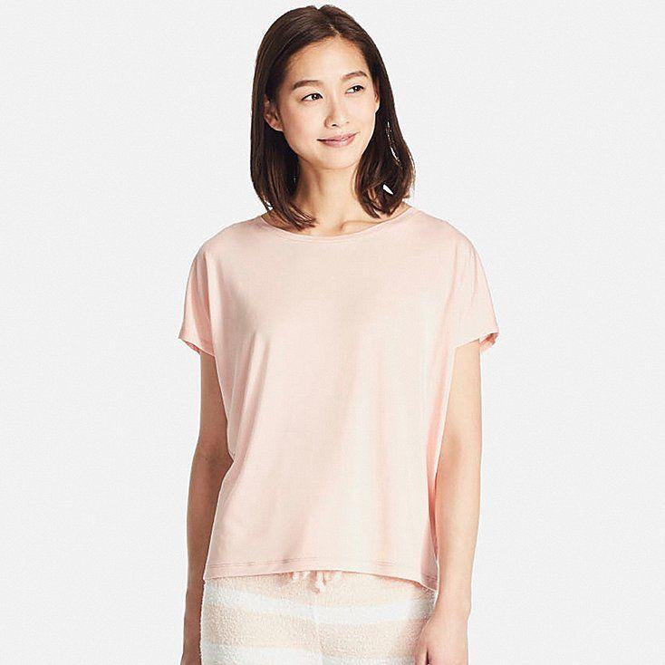 539fb75e014a6 Women drape crewneck short-sleeve t-shirt