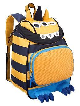 0368e7cd228e OMG Carson needs this for preschool! Striped monster backpack