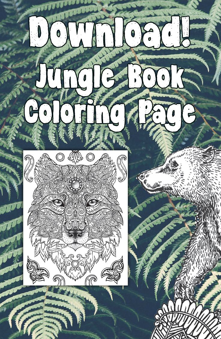 coloring page download from the jungle book silver dolphin books