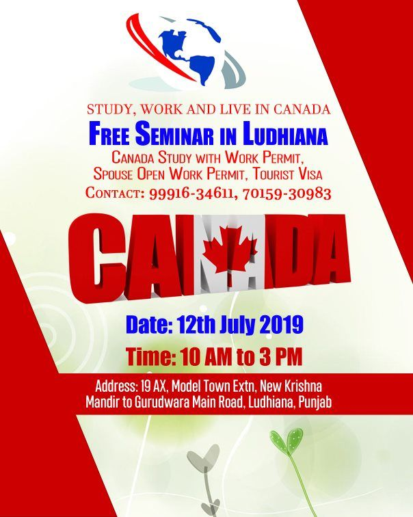 Free Seminar in Ludhiana for Canada Study with Work