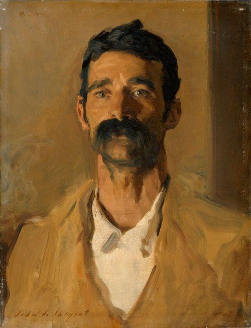 John Singer Sargent ~ Study of a Sicilian peasant, 1907. Oil on canvas, 60 x 46 cm. Copyright © The Fitzwilliam Museum, Cambridge.