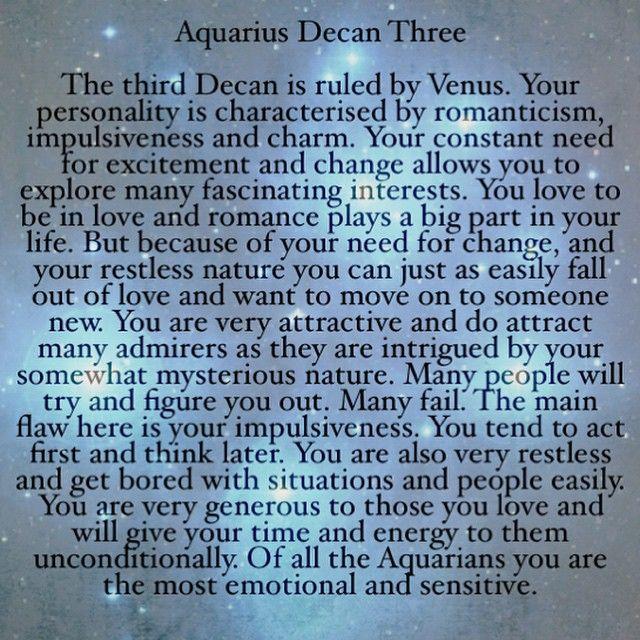 astrology decans aquarius