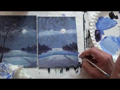 10 Minuten Malerei Eine Kleine Winterlandschaft Malerei