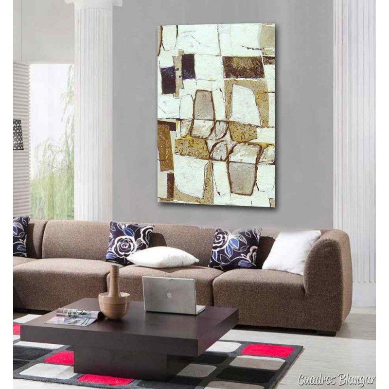 Magnifico cuadro abstracto con textura sobre lienzo for Adornos modernos para decorar