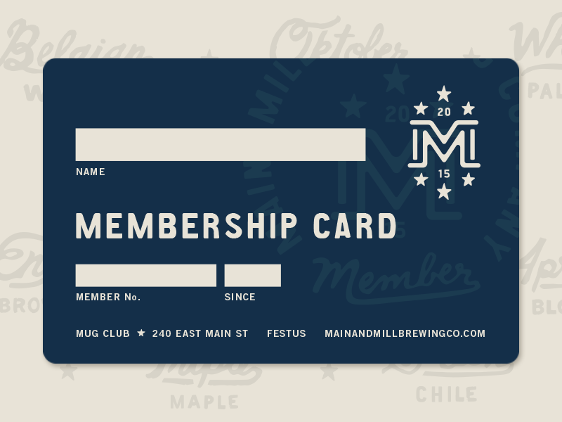 Contemporary Membership Card Design Component - Administrative ...
