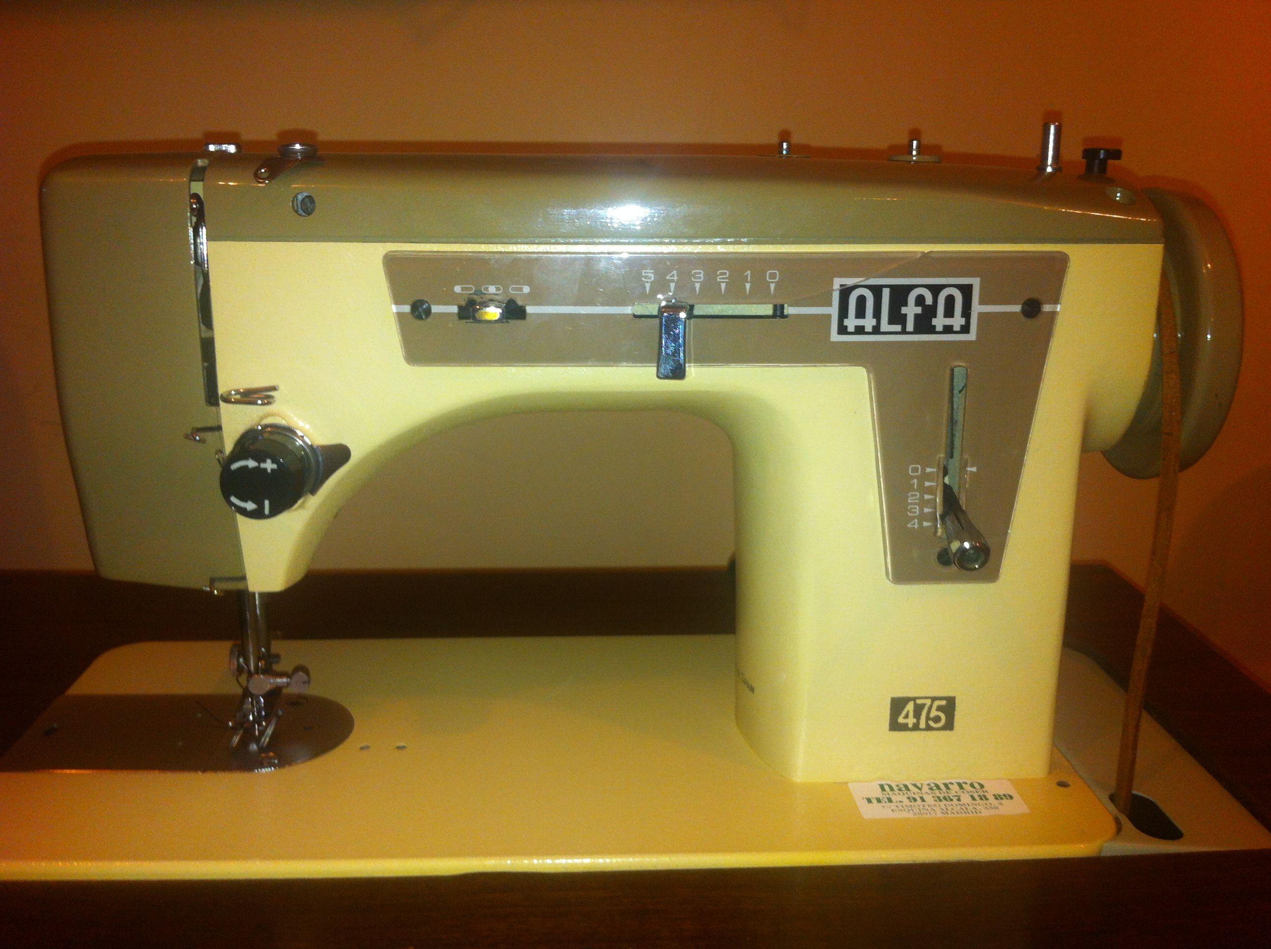 Maquina de coser alfa 475 con mueble cat logo y todos los - Accesorios hogar originales ...