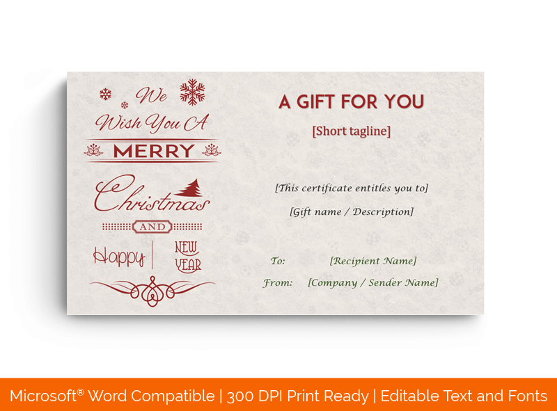 Christmas Holiday Gift Card Template 1848 Doc Formats Gift Card Template Holiday Gift Card Christmas Gift Certificate Template