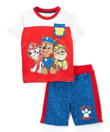 e3de6ed9a Loving this PAW Patrol White   Red Nick Tee   Blue Shorts - Toddler ...