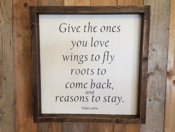 Dalai Lama Quote, Family Quote, Family Sign, Roots Quote, Wings to Fly Quote, Ones you Love Quote, R