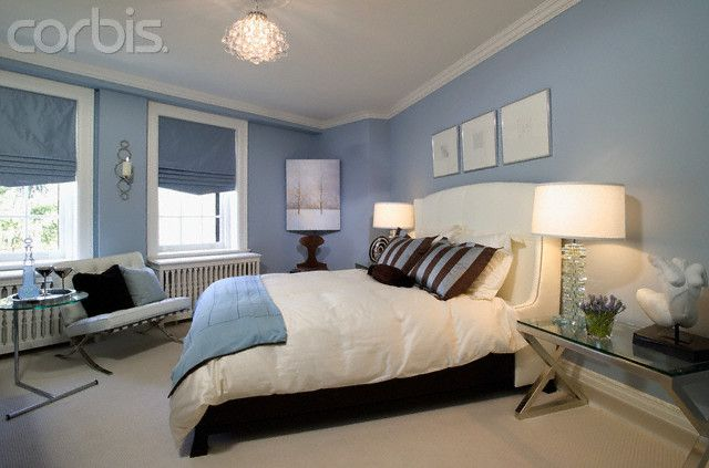how to use the blue walls in your bedroom glass pewter