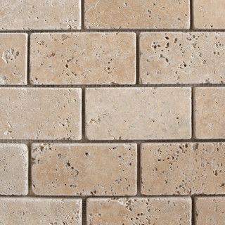 "Kitchen Tiles Brick Style 2""x4"" travertine classic brick pattern tumblednatural stone mosaic"