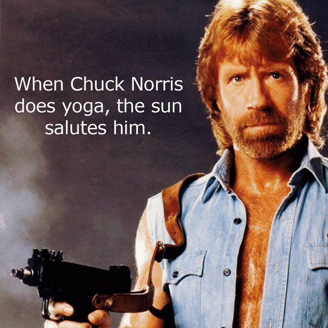 chuck norris yoga 10 true facts citation. Black Bedroom Furniture Sets. Home Design Ideas