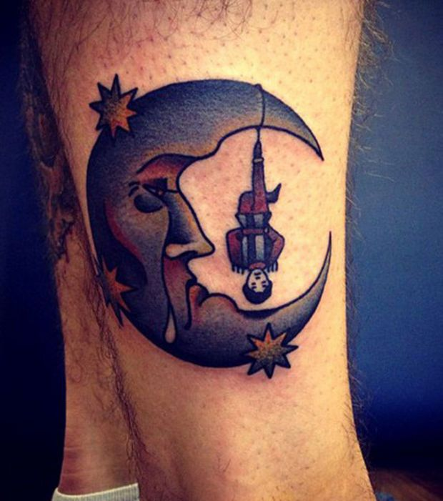 tatouage pierrot lune recherche google tattoos pinterest tatouages. Black Bedroom Furniture Sets. Home Design Ideas
