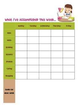 Daily Assignment Sheets Free Printables Mind Over Matter