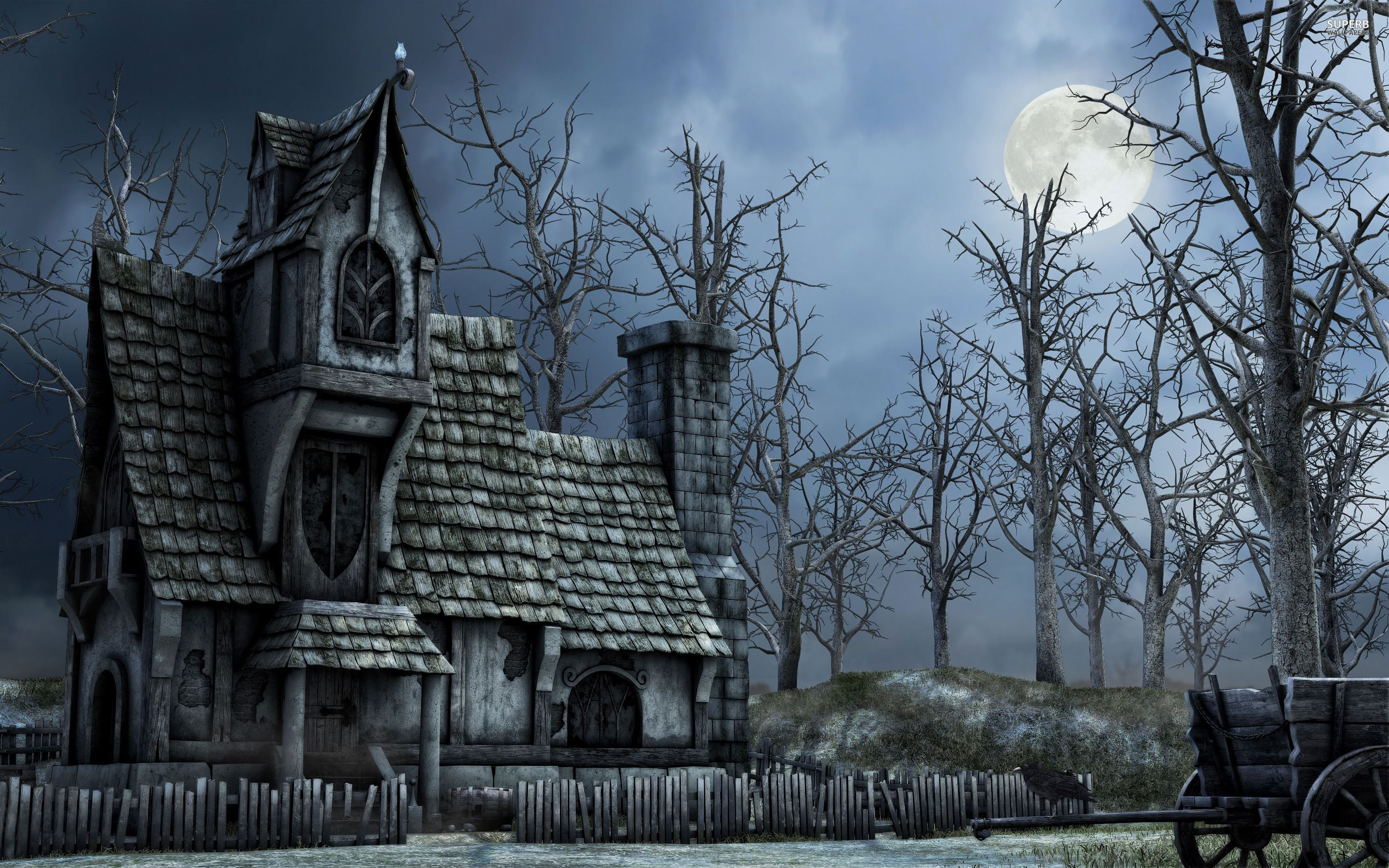 Haunted house 24021 2880 1800 haunted for Pinterest haunted house