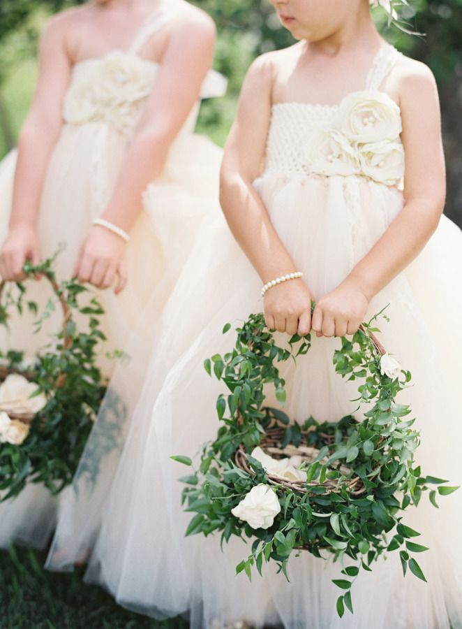 bf6cb2c1863d Adorable leafy flower girl baskets: http://www.stylemepretty.com/