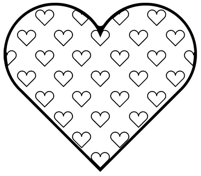 Free Printable Heart Coloring Pages For Kids Heart Coloring Pages Printable Valentines Coloring Pages Valentines Day Coloring Page
