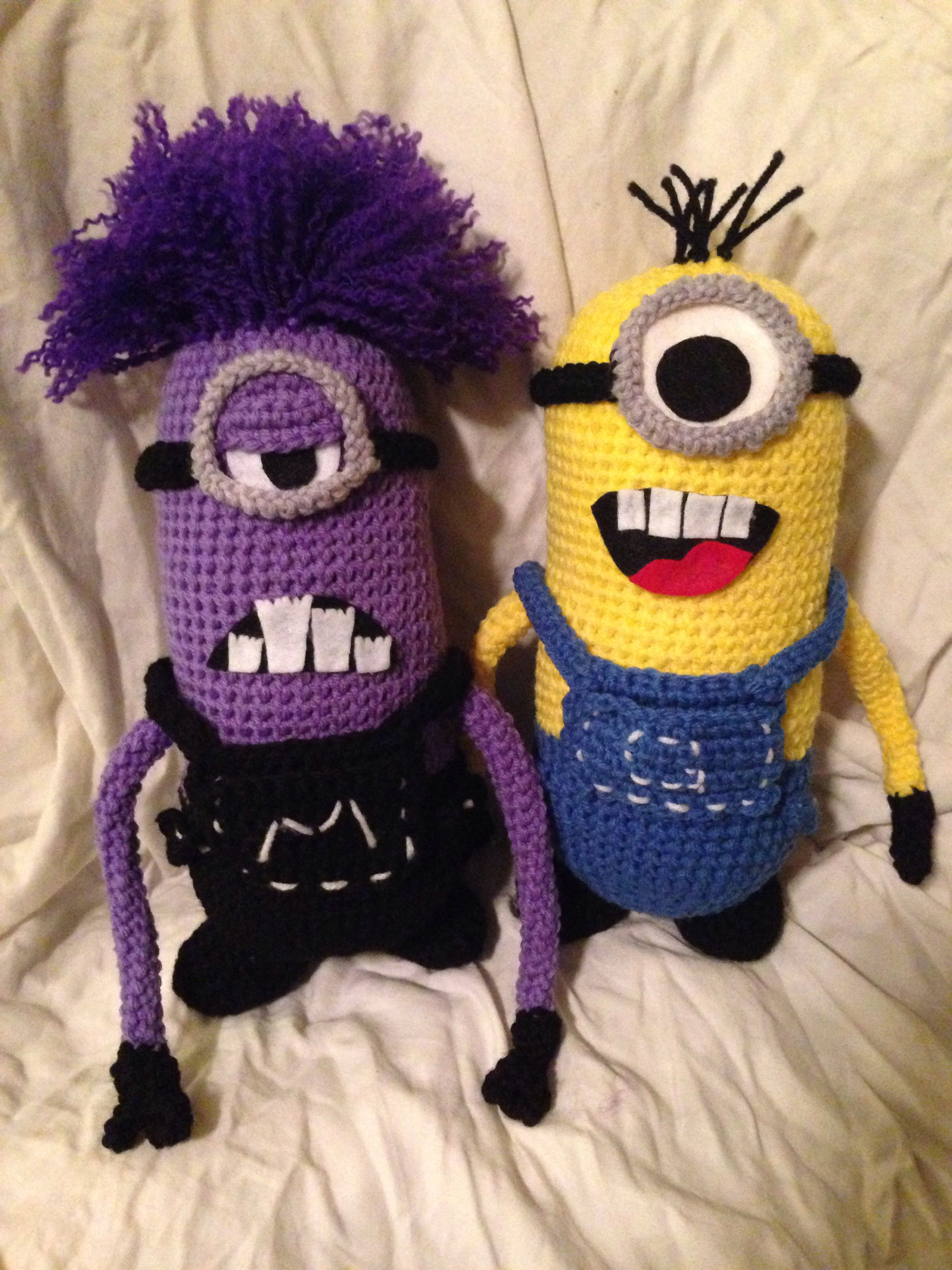 Crochet minion- | Minions | Pinterest | Tejido, Ganchillo y Minions