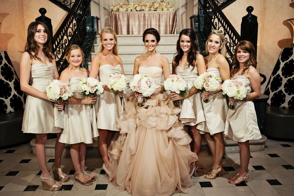 Champagne Coloured Bridesmaid Dress