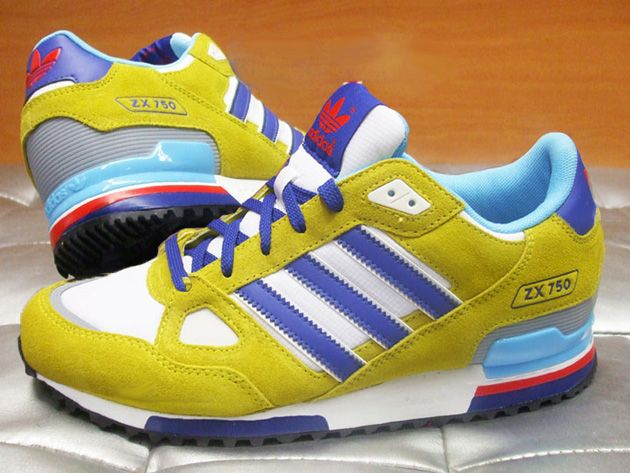 Adidas Zx 630 Chrome Ink Shoes Colorful Mens Yellow Blue Grey