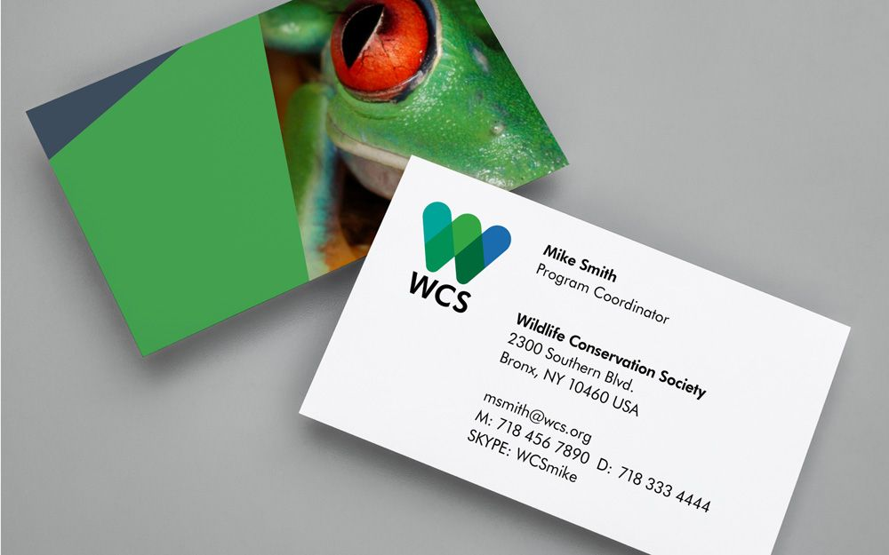 New Logo And Ideny For Wildlife Conservation Society By Pentagram Business Card