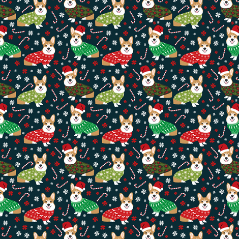 christmas corgi fabric cute corgi sweaters ugly christmas sweaters ...