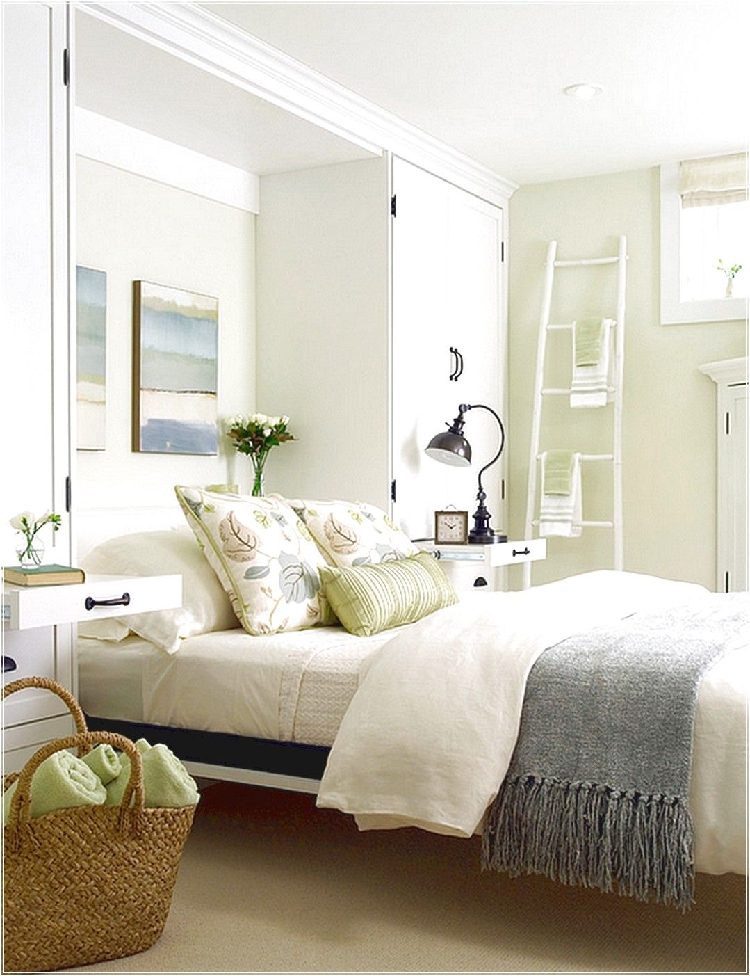 cool bedroom color schemes a breezy and cool color scheme for the basement bedroom 14989