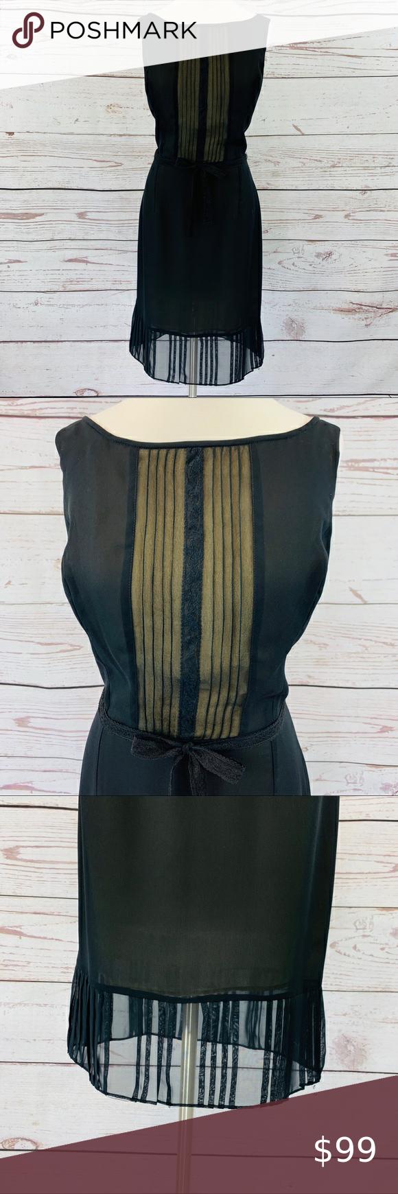 Gia Co Black Vintage Dress Sheer And Cream Vintage Black Dress Vintage Dresses Sheer Dress [ 1740 x 580 Pixel ]