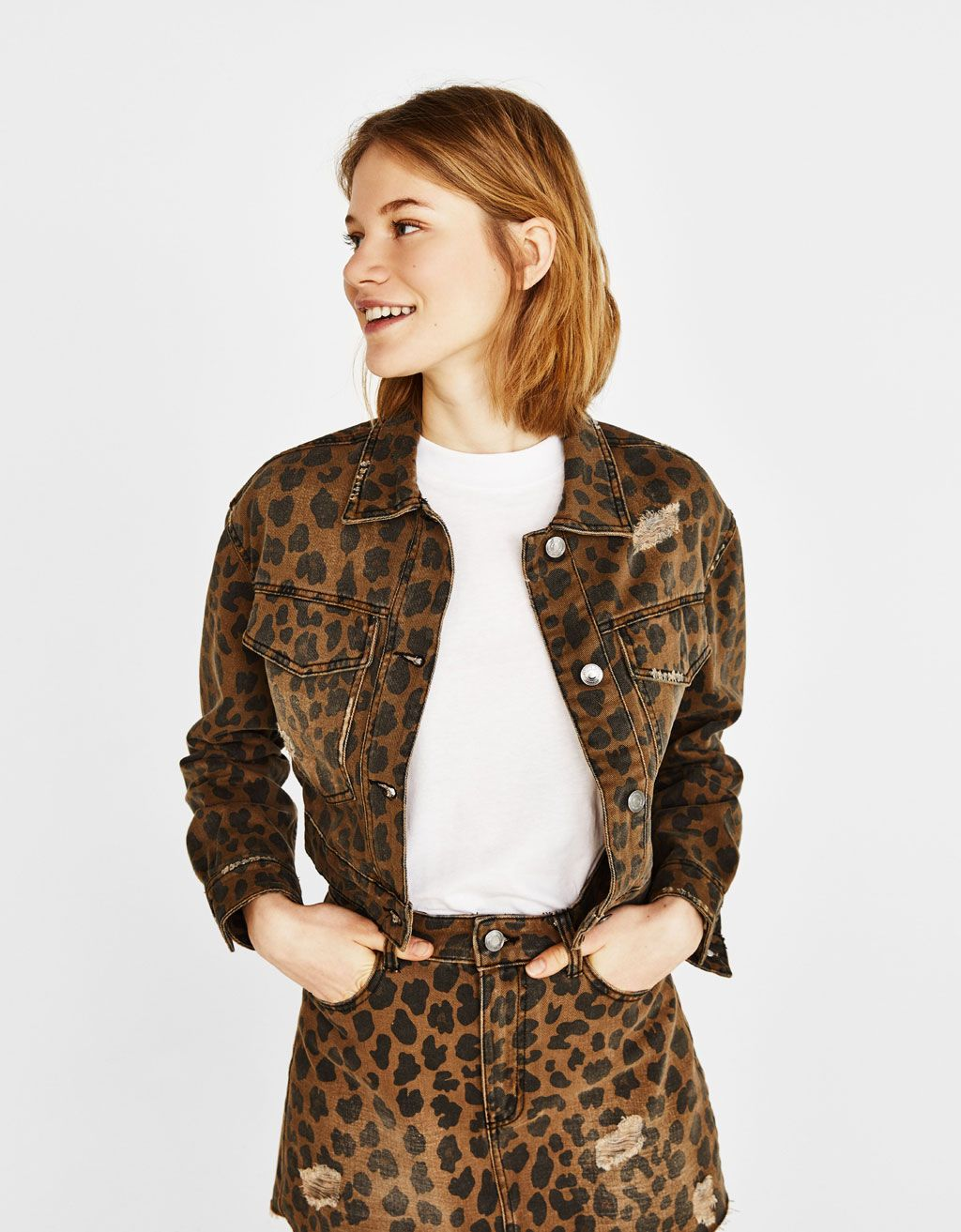 23effc268c95 Leopard-print jacket. Discover this and many more items in Bershka with new  products
