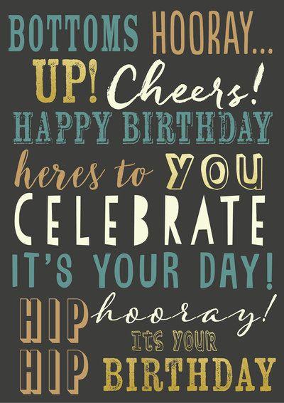 Happy Birthday   Birthday wishes for men, Birthday